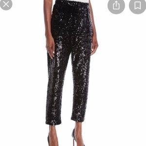 Joan Vass Fabulous Black Sequin Pants M